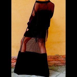 Net top and skirt set.Eastern European designer.